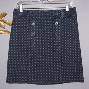 LOFT Double Buttoned Navy Skirt - Size 6